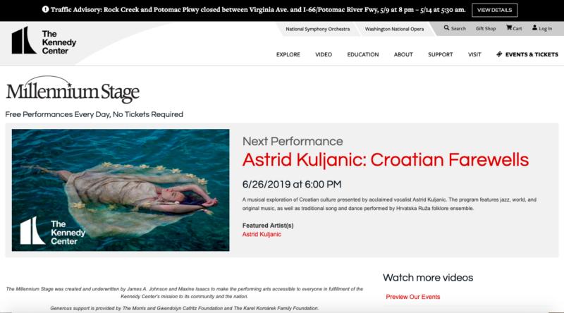 Kennedy Center Concert!   Astrid-Music